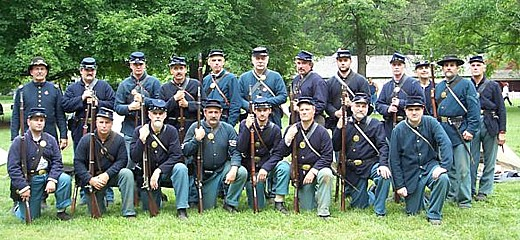 Co. C, 53rd PVI at Landis Valley State Museum, July 2008 (Courtesy Doug Raab)