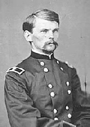 Brig. General Emory Upton in 1864. The physical strain from the Overland Campaign is evident on the drawn face of the young officer. (National Archives)