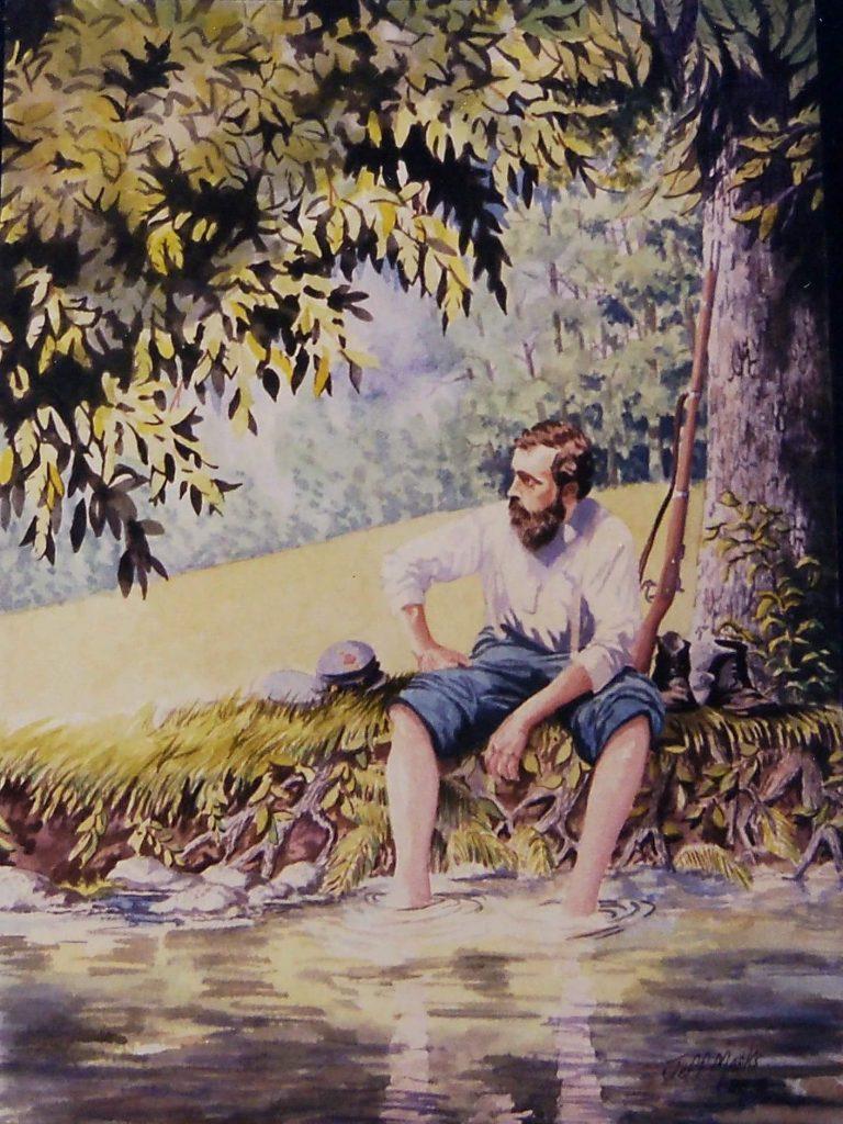 Watercolor by Jeff Marks of John Lowry